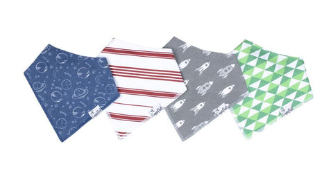 Apollo Baby Bandana Bib Set (4-pack)