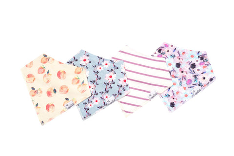 Morgan Baby Bandana Bib Set (4-pack)