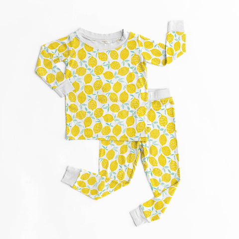 Little Sleepies - Lemons bamboo two-piece pajama set