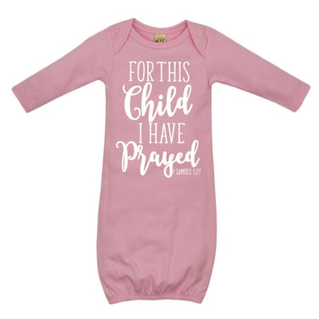 For This Child- Sleep Gown. Light Pink