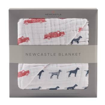 Fire Truck & Dalmation Newcastle Blanket