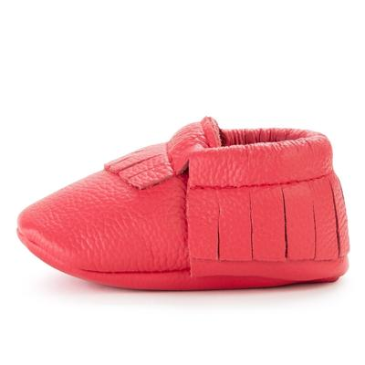 BirdRock Baby - Hibiscus Genuine Leather Baby Moccasins