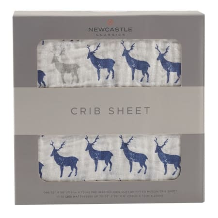 Blue Deer Crib Sheet