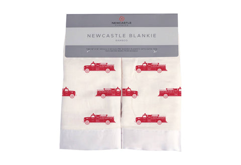 Fire Truck Newcastle Blankie
