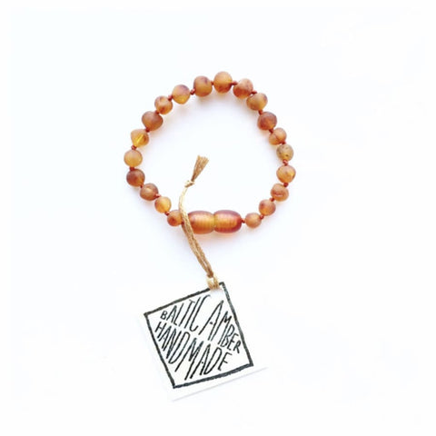 Raw Baltic Amber || Anklet