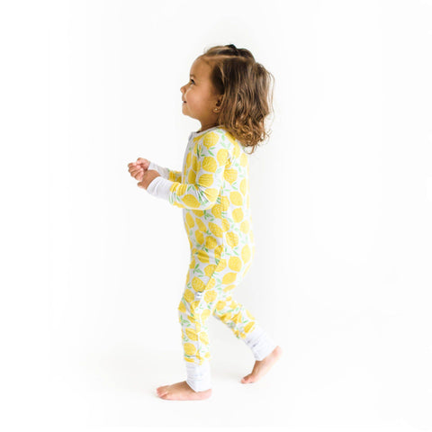Little Sleepies - Lemons bamboo convertible romper/sleeper