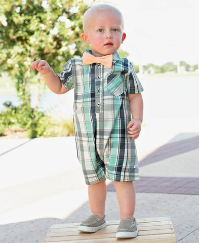 David Plaid Romper