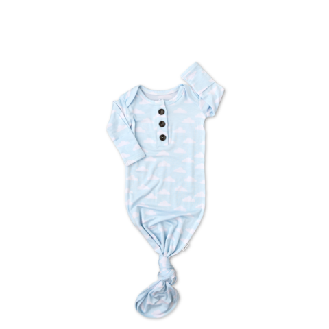 Andy Clouds knotted newborn gown