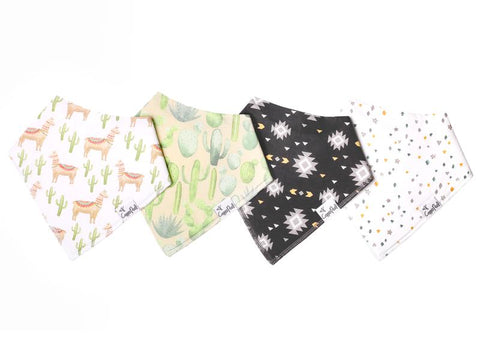 Cusco Baby Bandana Bib Set (4-pack)