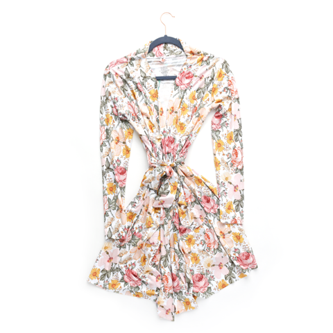 Nella Vintage Floral Mommy Robe