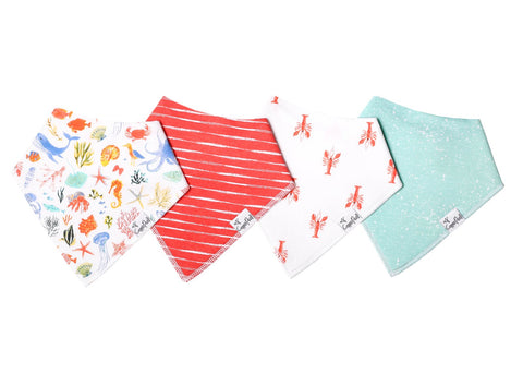 Nautical Baby Bandana Bib Set (4-pack)