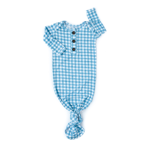 Connor Blue Gingham gown only