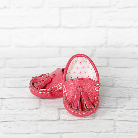 Funky Monkey Fashion - Baby Leather Moccasin Shoes - Pinkie Toes