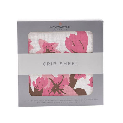 Cherry Blossom Crib Sheet