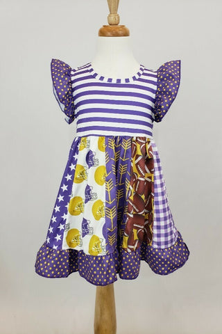 Purple and Gold Football Dress