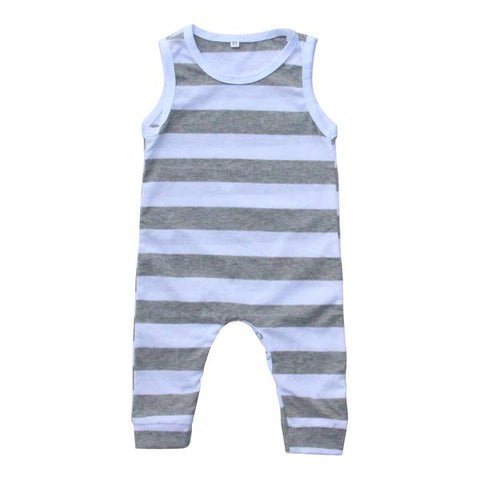 Gray Stripe Tank One-Piece