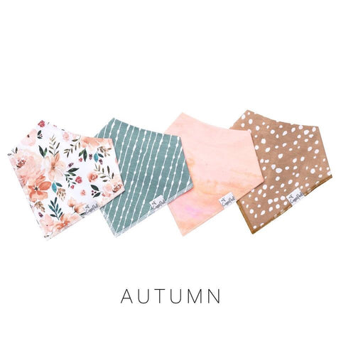Autumn Baby Bandana Bib Set (4-pack)