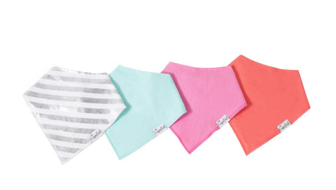 Jewel Baby Bandana Bib Set (4-pack)