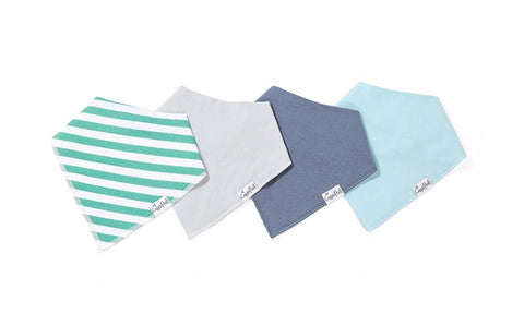 Oxford Baby Bandana Bib Set (4-pack)