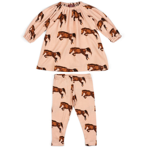 Dress & legging set-Horse