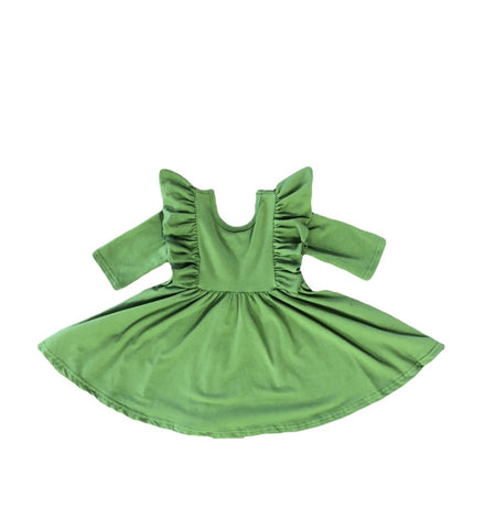 Moss Ruffle Twirl Dress