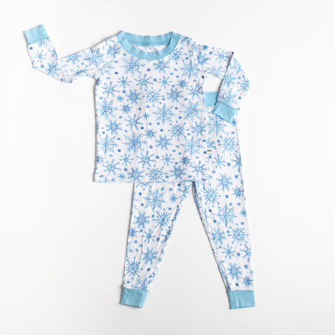 Little Sleepies - Snowflakes bamboo viscose two-piece pajama set