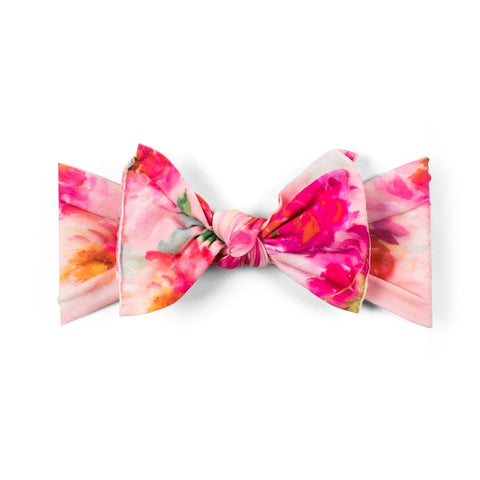 Knot Bow- soft pink floral