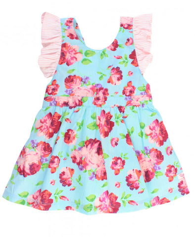 Life is Rosy Pinafore Dress