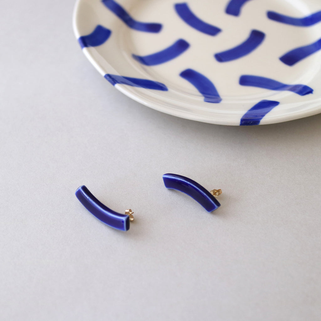 Tempo Earrings / Blue / 14KGF