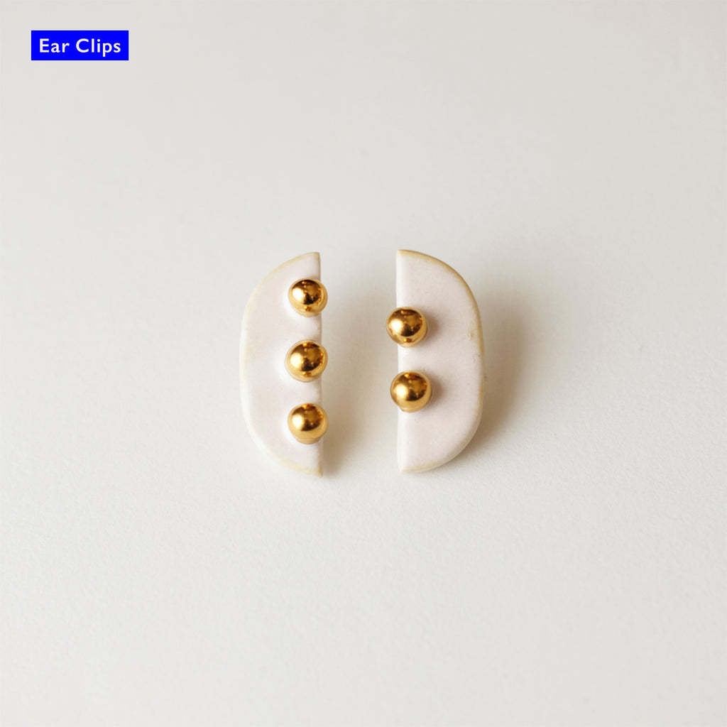 Golden Bean / Ear Clips