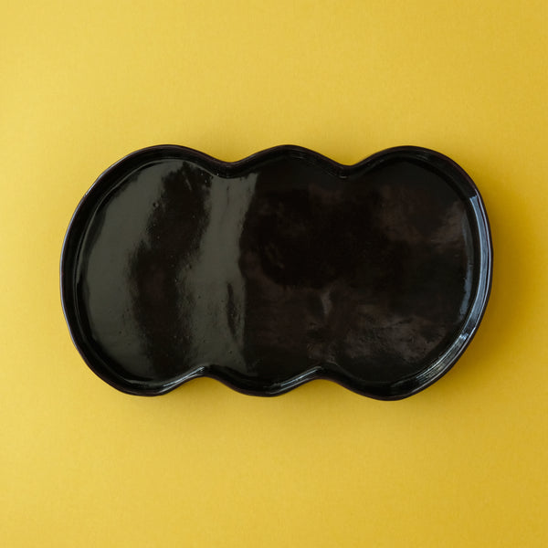 M.N.Bean plate / Medium / Black