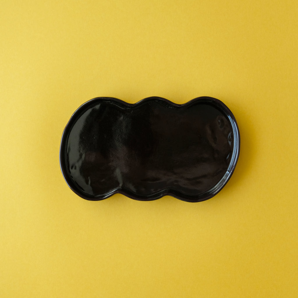 M.N.Bean plate / Small / Black
