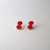 RESTOCK : M.N Bean2 Earrings / Red / 14KGF