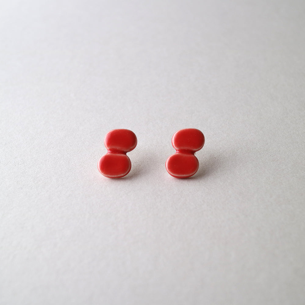 M.N Bean2 / Earrings / Red