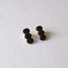 M.N Bean3 Earrings / Black / 14KGF