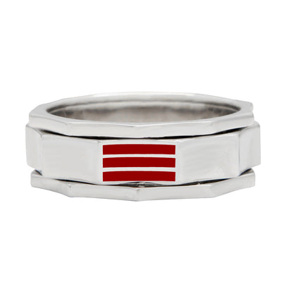 R3 – Men's Contemporary Sterling Silver Technical Band 925