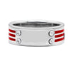 R12 – Men's Contemporary Sterling Silver Band w/ Plate