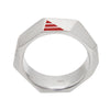R5 – Men's Sterling Silver Geometric Band w/ Diamonds