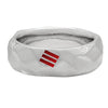 R9 – Men's Sterling Silver Hammered Design Band w/ Diamonds
