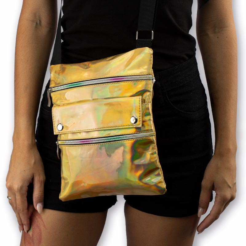 Shoulder Bag Holográfica Yellow