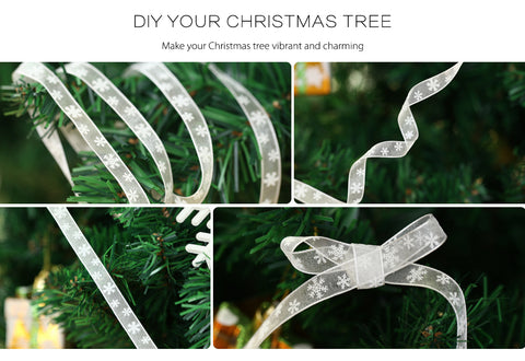 christmas snowflake ribbon