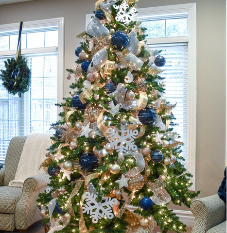 navy christmas decor