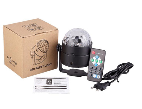 LED Disco DJ Light Ball | Sound Activated | Christmas Lighting | All For Xmas