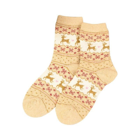 Traditional Christmas Wool Blend Socks - One Size | Christmas Apparel | All For Xmas