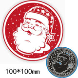 Santa Claus Circle Metal Cutting Die | DIY Scrapbooking | All For Xmas