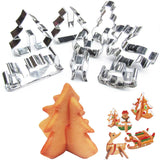 3D Christmas Cookie Cutter Moulds 8pcs | Kitchen Decor | All For Xmas