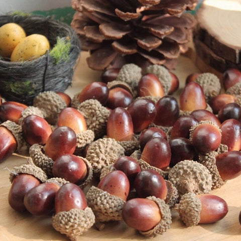 10PCS Artificial Mini Acorn Oak Ornaments | Home Decorations | All For Xmas