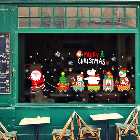 Merry Christmas Window Wall Stickers | Christmas Decor | All For Xmas