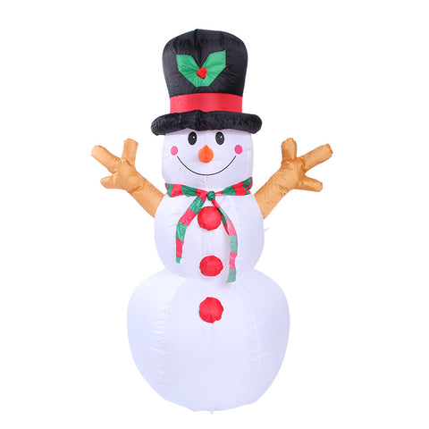1.6M-5.2FT Inflatable Giant Snowman LED Lighted | Outdoor Christmas Decor | All For Xmas