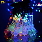 30LED Solar Water Drop String Light Tubes | Waterproof | Outdoor Lighting | All For Xmas